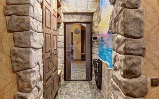 Декоративная отделка арок обоями деревомплиткой мозаикой камнем