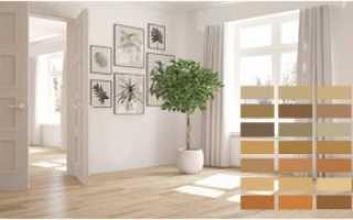 Серый ламинат и серые двери в интерьере