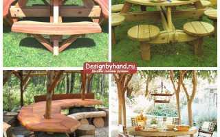 Деревянный стол для сада своими руками