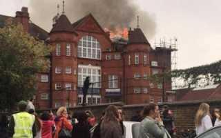 Правильные действия при пожаре в школе