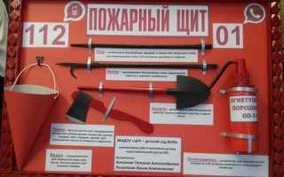 Пожарные щиты комплектация по категориям