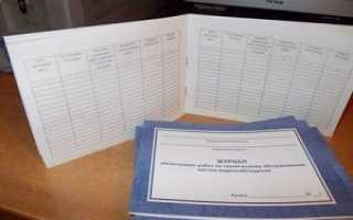 Заполнения журнала регистрации инструктажа по технике безопасности