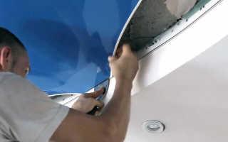 Как снять натяжной потолок гарпунного типа