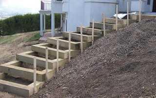 Как сделать лестницу в саду своими руками