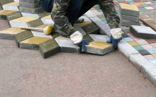 Как правильно укладка тротуарной плитки