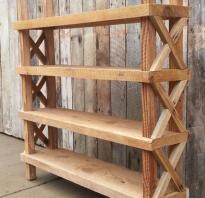 Как сделать деревянный стеллаж