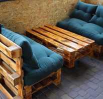 Мебель для улицы из поддонов своими руками