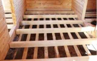 Лаги для пола в деревянном доме размеры