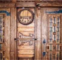 Как состарить деревянную дверь своими руками