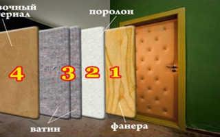 Как красиво обить дверь
