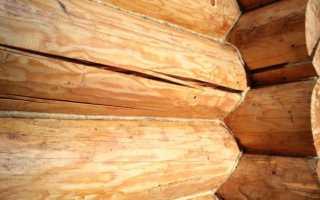 Заполнение трещин в древесине