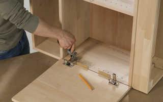 Установка петель на дверцы шкафа своими руками