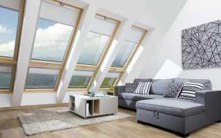 Мансардные окна разновидности и конструктивные особенности