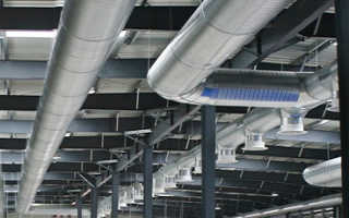 Монтаж металлических воздуховодов внутренних систем вентиляции