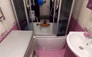 Дизайн небольшой ванной с душевой