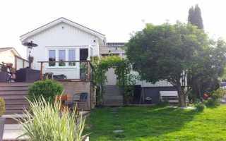 Проект дома с крыльцом слева