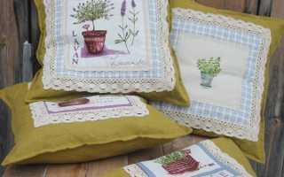 Вышивка домашнего текстиля в французском стиле прованс