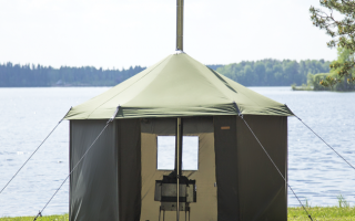 Баня из советских палаток