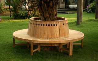 Как построить круглую скамейку вокруг дерева