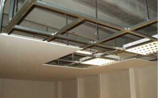 Технология поэлементной сборки потолков из гипсокартона