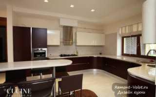 Интерьер небольшой кухни столовой в частном доме