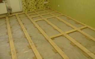 Деревянный пол на лагах технология установки лаг