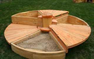 Изготовление песочницы с крышкой своими руками