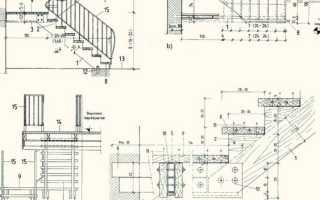Чертеж лестницы на второй этаж из дерева
