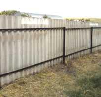 Забор из шифера волнового своими руками