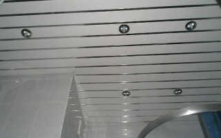 Как установить реечные потолки самому