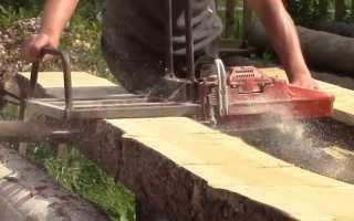 Как распилить бревно вдоль циркулярной пилой