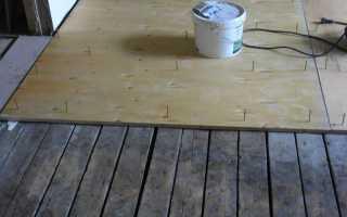 Монтаж фанеры на деревянный пол под ламинат