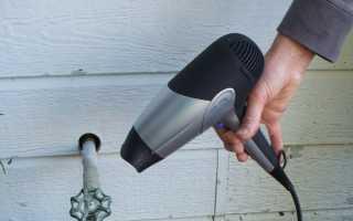 Как разморозить водопровод советы профессионалов