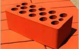 Кирпич керамический пустотелый утолщенный размером 250х120х88 мм марка 150