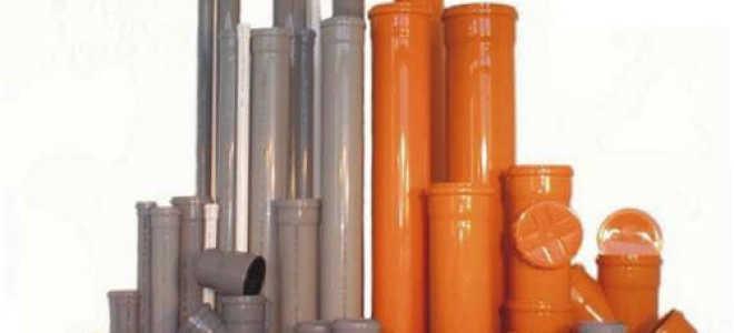Труба канализационная 110 рыжая обозначение