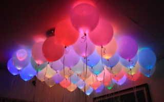 Светящиеся воздушные шары с подсветкой со светодиодами