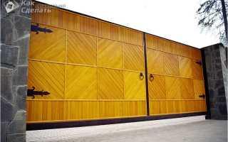 Деревянные ворота особенности конструкций Ворота из досок