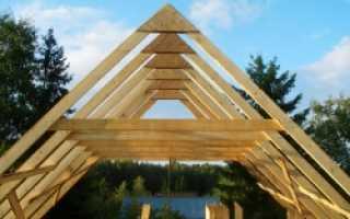 Схема монтажа стропил двускатной крыши деревянного дома