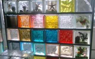 Перегородка из стеклоблоков своими руками