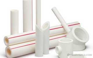 Технические характеристики полипропиленовых труб