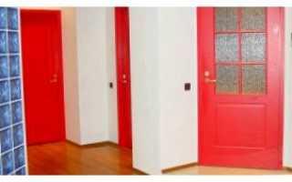 Как и чем покрасить дверь канадку