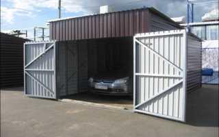 Расчет материала для гаража из металлопрофиля