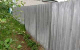 Забор из шифера особенности конструкции