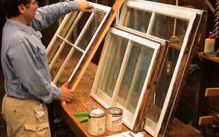 Как отремонтировать старые деревянные окна