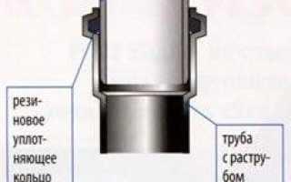 Соединения канализации труб чугун с пластиком