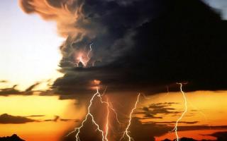 Виды молний линейные внутриоблачные наземные